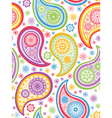 Colorful seamless paisley pattern vector image