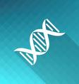 DNA molecule icon vector image