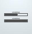 Loading uploading downloading status bar icon vector image