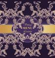 luxury baroque card paper decor ornament vector image