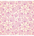 Pink abstract doodle flowers seamless pattern vector image