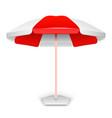 Red striped market outdoor umbrella vector image