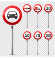 road signs collection isolated on white background vector image