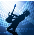 Rock guitar player on stage vector image