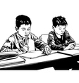 School Kids in Classroom vector image