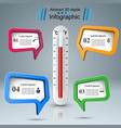 thermometer business infographics health icon vector image