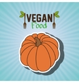 vegan food healthy fork vector image