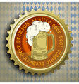 cap for beer bottles vector image vector image