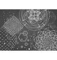 Sacred geometry backdrop vector image