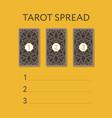template for three tarot card spread vector image