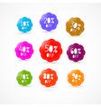 Colorful Discount Labels Set vector image
