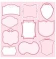 set of pink vector frames vector image