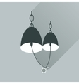 Flat web icon with long shadow Bells wedding rings vector image