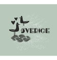 Swedish sign with sea birds vector image vector image