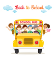 Children Enjoy On School Bus vector image