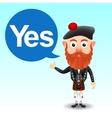 Scottish character in kilt vector image