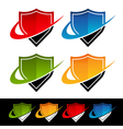 Swoosh Shield Logo Icons vector image vector image
