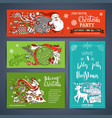 set of merry christmas banners vector image