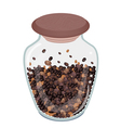 Various Kind of Roasted Coffee Beans in Bottle vector image vector image