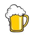 Frothy tankard of golden beer vector image vector image