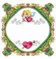 valentine frame 1 vector image vector image