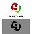 Number nine logo Logo 9 vector image