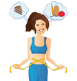 Weight-loss and Diet Woman vector image