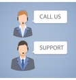 Call center support emblem vector image