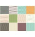 Different Seamless patterns Collection vector image