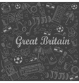 Great Britain line art design vector image