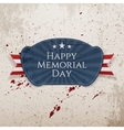 Happy Memorial Day national Badge with Ribbon vector image
