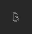 Letter B logo monogram geometric shape modern vector image