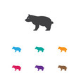 of zoology symbol on grizzly vector image