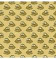 Vintage cartoon frogs pattern vector image