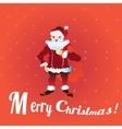 Full length portrait of a Santa Claus posing near vector image