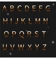 a golden alphabet vector image