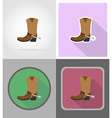 wild west flat icons 15 vector image