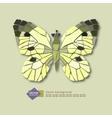 Abstract stylized butterfly on a light background vector image