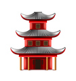 Chinese temple isolated on white vector image