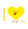 I love chicks Yellow Symbol of heart from a small vector image