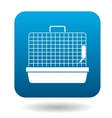 Rodent cage icon simple style vector image