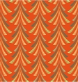 Seamless Christmas pattern Firs trees on red vector image
