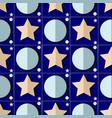 starry night seamless pattern vector image