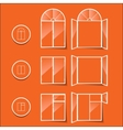 windows icon isolated on a orange background vector image
