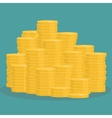 golden coins stack vector image