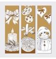 Christmas golden banner set vector image