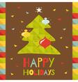 new christmas tree vector image vector image