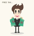Taxripped paperbusiness man vector image vector image
