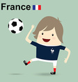 france national football team businessman happy is vector image