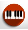 piano keys web icon vector image
